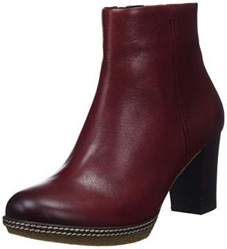 Gabor Shoes Women's Comfort Sport Wide Fit Ankle Boots, Dark-Red (Micro) 28