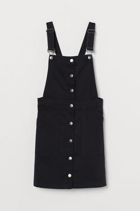 H&M Cotton twill dungaree dress