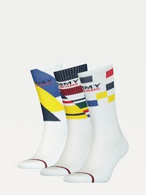 Tommy Hilfiger 3-Pack Square Stripe Socks Gift Set
