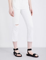 Current/Elliott The Kick slim-fit high-rise jeans
