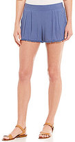I.N. San Francisco Pom-Pom Trim Soft Shorts