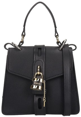 Chloé Aby Small Shoulder Bag In Black Leather