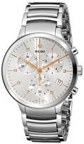 Rado R30122113 Men's Centrix Chronograph Stainless Steel -Tone Dial Ss Watch