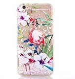 Sunvy iPhone 7 Glitter Case Flame Bird Liquid Case Bling Floating Hard Case for 4.7inch iPhone 7 with a Screen Protector (White)
