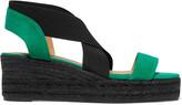 Castaner Bernard nubuck and grosgrain sandals