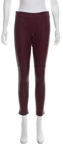 66e7dabf2c2e2e Wine Leather Pants - ShopStyle