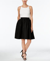 Calvin Klein Colorblocked Textured Fit & Flare Dress