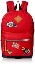 Steve Madden Men's Red Patchwork Dome Backpack