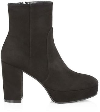 Stuart Weitzman Alisa Suede Platform Ankle Boots