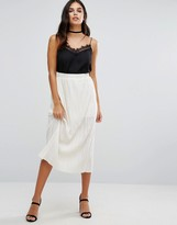 Love Pleated Midi Skirt
