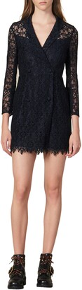 Sandro Nanie Lace Cotton Blend Minidress