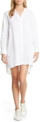 Frank And Eileen Linen Long Sleeve Shirtdress