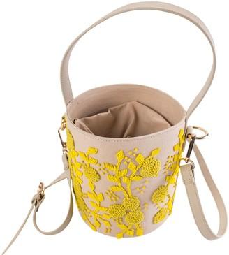 Violet & Brooks Maisie Lemon Embroidered BucketBag
