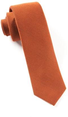Tie Bar Solid Wool Burnt Orange Tie