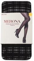 Merona Premium® Women's Lace Plaid Tights - Black
