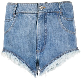 Telfar Frayed Edge Denim Shorts