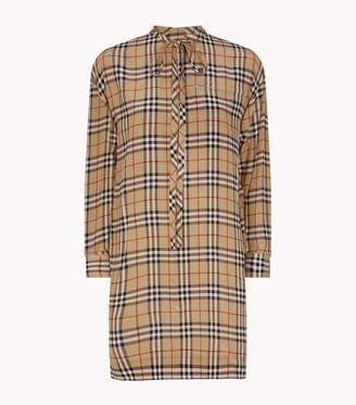 Burberry Vintage Check Silk Dress