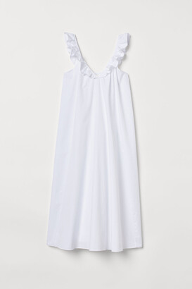 H&M Ruffle-trimmed Dress - White