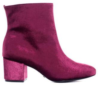Schutz Velvet Ankle Boot