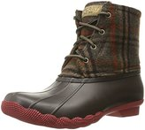 Sperry Top-Sider Women's Saltwater Prints Wool Plaid Rain Boot