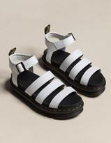Dr. Martens Blaire Womens White Platform Sandals