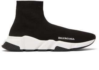 Balenciaga Speed High-top Sock Trainers - Womens - Black