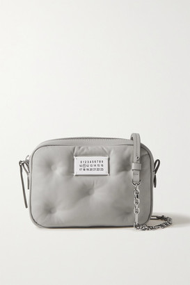 Maison Margiela Camera Quilted Leather Shoulder Bag - Gray