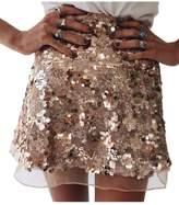 Lettre d'amour Women's Sequins A Line Skirts Cocktail Skirts L