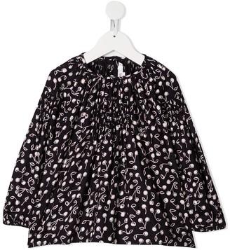 Bonpoint TEEN cherry-print smock blouse