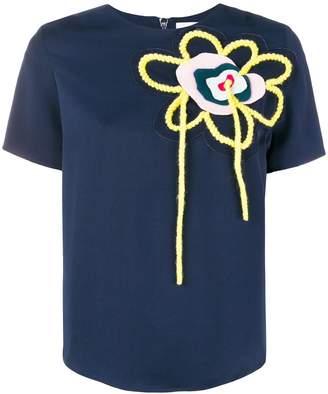 Mira Mikati wool flower T-shirt