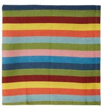 Cabana Magazine - Set Of Four Tingere Striped Linen Napkins - Multi