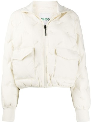Kenzo logo embroidered padded light jacket