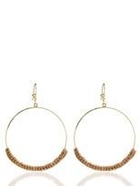 Carolina Bucci Large Woven Hoop Earrings