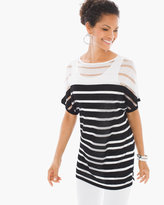 Chico's Striped Dolman Top