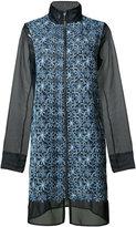 Elie Tahari high neck zipped coat