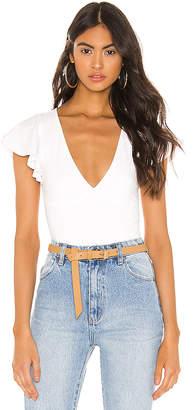 superdown Elana Flutter Sleeve Bodysuit