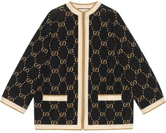 Gucci GG Supreme intarsia knit jacket