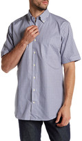 Peter Millar Twill Check Regular Fit Short Sleeve Shirt