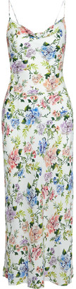 Alice + Olivia Harmony Floral-print Washed-crepe Midi Slip Dress