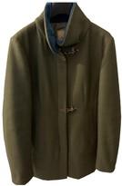 Fay Green Wool Coat for Women