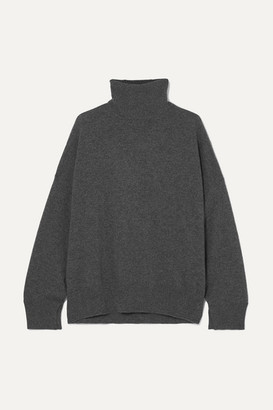 LOULOU STUDIO Cashmere Turtleneck Sweater - Gray