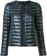Herno collarless padded jacket - women - Feather Down/Nylon/Feather - 38