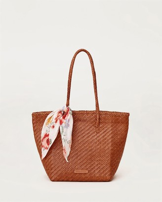 Loeffler Randall Tatia Woven Leather Tote Timber
