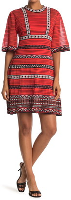M Missoni Mixed Border Print Mini Dress