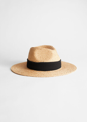 And other stories Ribbon Brim Woven Straw Hat