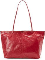 Latico Leathers Red Carmen Scalloped East/West Tote