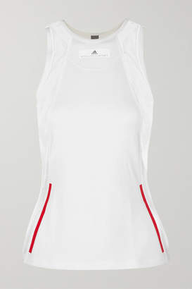 adidas by Stella McCartney Mesh-paneled Stretch Tank - White