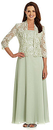KM Collections Lace Jacket Dress