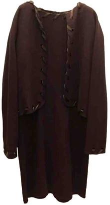Genny Brown Wool Dress for Women