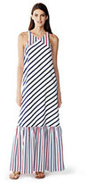 modern Women's Maxi Cover-up Dress-Black/White